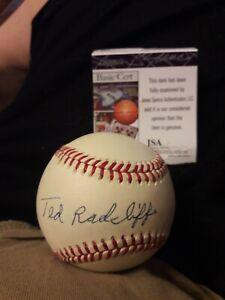 Negro League Ted Radcliffe Signed National League Baseball JSA COA