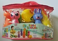 As Seen On TV 7 Piece Soft & Squeezable Bowling Set Of Animal Shapes Brand New