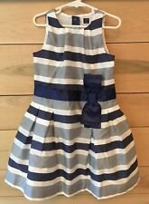 Janie and Jack Girls Size 5 Blue White Party Holiday Wedding Easter Dress