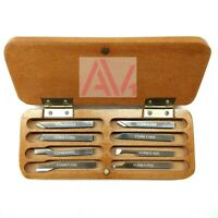 6mm HSS Lathe Form Tools Set 8 Pieces Set Square Shank wooden box