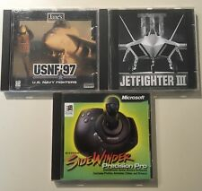 Jetfighter 3 SideWinder Precision Pro USNF 97 Navy Fighters PC Lot Microsoft
