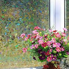 3D Static Cling Home Window Film Stained Glass Paper Decor Frosted Privacy