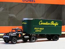 LIONEL CP SEMI-TRACTOR & 20' PIGGYBACK TRAILER o gauge train truck 6-81904 NEW