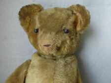 Antique c1920s Mohair Teddy Bear, Shoe Button Eyes, Needs Love