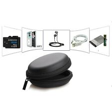 Carrying Hard Hold Case Storage Bag for Earphone Headphone Memory Card Black