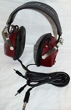 RARE Vintage 70's JVC HM-100E Binaural Mic Stereo Boombox Headphones hip-hop RED