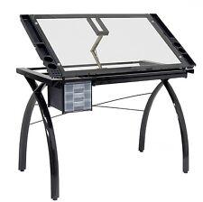Studio Designs 10072 Futura Craft Station Black/Clear Glass - Free Shipping!