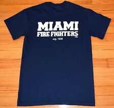 Miami Fire Fighters T-Shirt, Men's Size Small, Navy Blue, Local 587 IAF Tee NEW