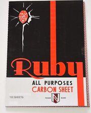 100 x A4 CARBON PAPER SHEETS HAND COPY  BLACK & BLUE- RUBY