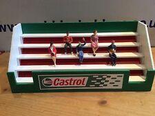 Castrol Slotcar 1/32 escala tribuna Carrera SCALEXTRIC SCX edificio