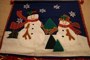 Felt , Fabric Wall Hanging Advent Calendar Re-useable , Add own treats/ gifts