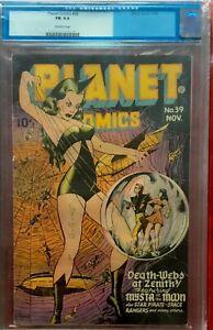 PLANET COMICS 39 CGC 6.0 CLASSIC LILY RENEE SPIDERWOMAN Cover!