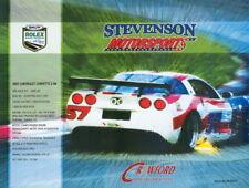 2007 Stevenson Motorsports Chevy Corvette Z-06 GT Rolex 24 Grand Am postcard