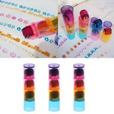 3pcs Cycle Roller Stamps Combination Pens Shape Kids DIY Scrapbook Photo Album
