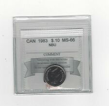 **1983**, Coin Mart  Graded Canadian,  10  Cent, **MS-66 NBU**