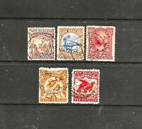 5 x New Zealand 1898 Pictorials, Set of 5 Stamps, FU