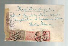 1940 Sevilla Spain Censored Cover to Bahia Blanca Argentina