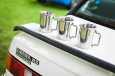 """Ford Sierra RS Cosworth 3"""" Rolled Tip Stainless Exhaust Mug Cup"""