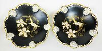 Rosenthal Moliere Bavaria Hand Painted Set of 2 Footed Bowls 9""