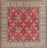 Art & Craft SQUARE 10 ft Super Kazak Oriental Area Rug Hand-Knotted Wool Carpet