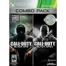 CALL OF DUTY: BLACK OPS 1 & 2 (XBOX 360, 2015) (4374)  ****FREE SHIPPING USA****