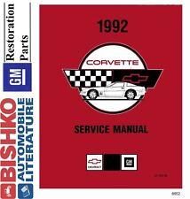 1992 Chevrolet Corvette Shop Service Repair Manual CD Engine Drivetrain Wiring