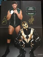 AEW Cody Rhodes & Goldust Signed Autograph Poster Magazine DOUBLE OR NOTHING