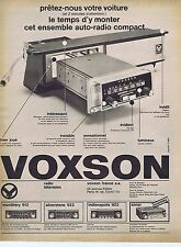 Publicité Advertising 016 1968 Voxson autoradio