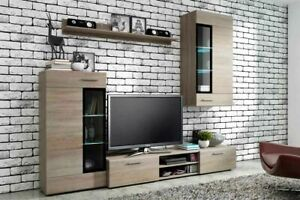 MODERN TANGO - TV UNIT AND LIVING ROOM SET- AVAILABLE IN OAK/WHITE- SAN REMO OAK