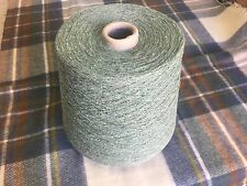 100% Raw Silk Pale Green500 Gram Cone.1/12nm Hand/machine Knit. Craft/crochet.