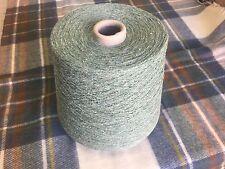 100% Raw Silk Pale Green500 Gram Cone.1/12nm Hand/machine Knit. Craft/crochet.
