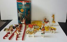 Vintage Fisher Price Junior Circus with Canister Almost Complete Animals 1963