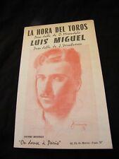 Partition La hora del toros Luis Miguel Music Sheet