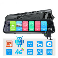 9.66in HD 1080P Dual Lens Car DVR Dash Cam Video Camera Recorder Rearview Mirror