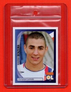 PANINI CHAMPIONS LEAGUE 2007/08 - rookie sticker # 228 KARIM BENZEMA - new