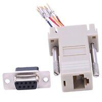 4X(RS232 DB9 Female to RJ45 Female F/F Modular Adapter Connector V5R4)