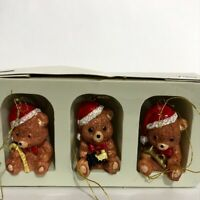 Vintage Barely Bears Ornaments For Christmas Around the World Set of 3