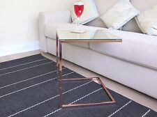 Ciro Side Table/Coffee Table/End Table/Sofa Table, Metal,Copper/Mirror-ST18CP/MR