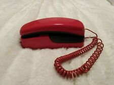 Red Telko Slimline Slim Line Push Button Phone Wall or Table