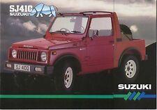 Suzuki SJ 410 Estate & SJ 410Q Soft Top 1985 Original UK Market Sales Brochure