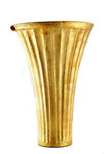 Assyrian Gold Leaf UR Vase Poly-resin