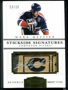 2011-12 Dominion Stickside Signatures 13 Mark Messier Stick Auto 13/15