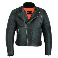 Motero Mens Vintage Grey High Quality Motorcycle Motorbike Premium Cow Leather