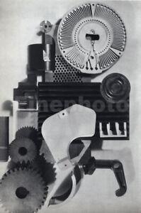 1936 Original Mechanical Engineering Design Abstract Photo Art By ARTHUR GERLACH