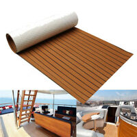 EVA Foam Teak Look Resilience Floor Mat For Yacht Boat Car Decking Self-Adhesive