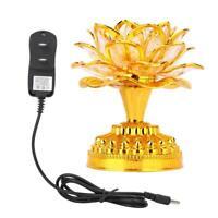 Buddha LED Lotus Lamp Buddhist Lights Temple Shrine Lucky Decoration Accessories