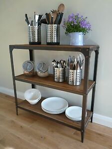Shelving Unit, Aged Rust colour finish, no assembly required