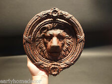 Antique Vintage Style Cast Iron Lion Head Door Knocker Hardware