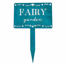 Rustic Wooden Fairy Garden Stake Plaque Sign Shabby Chic Gift