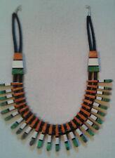 SANTO DOMINGO Delbert Crespin Necklace REVERSIBLE, HUGE, BOLD, Gorgeous, #fon